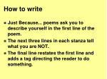how to write2