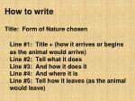 how to write4