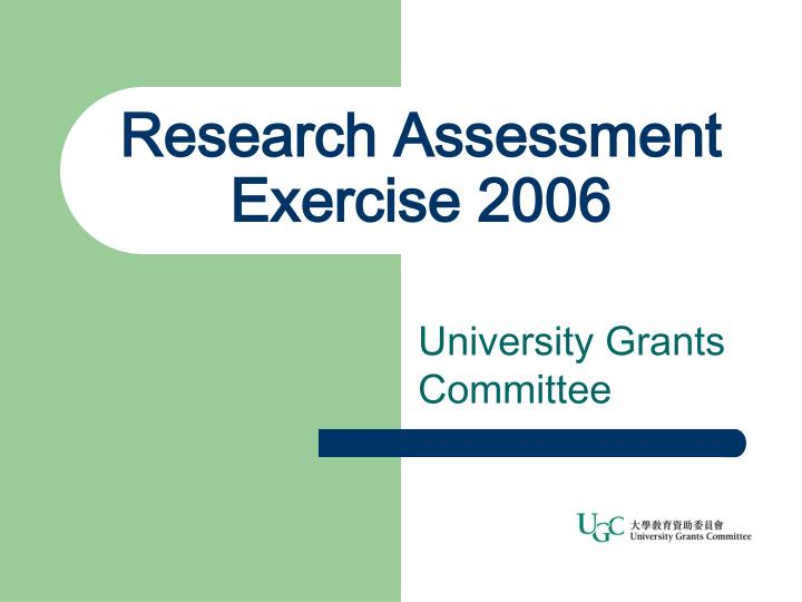 research assessment exercise 2006 n.