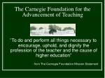 the carnegie foundation for the advancement of teaching1