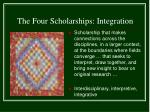 the four scholarships integration