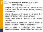 methodological work on qualitative interviewing e g uwe flick