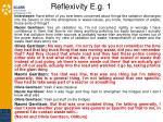 reflexivity e g 1