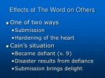 effects of the word on others