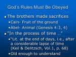 god s rules must be obeyed