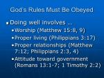 god s rules must be obeyed2