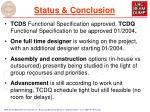 status conclusion