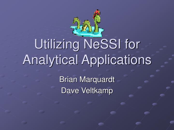 utilizing nessi for analytical applications n.