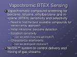 vapochromic btex sensing