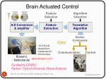brain actuated control