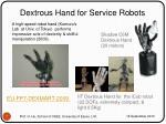 dextrous hand for service robots