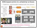 emg based control of a wheelchair at essex