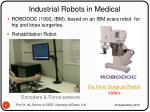 industrial robots in medical