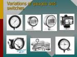 variations of gauges and switches