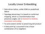 locally linear embedding