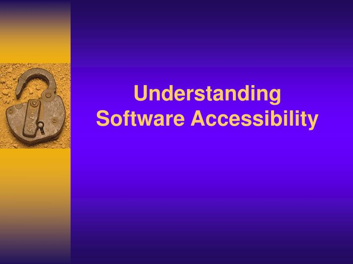 understanding software accessibility n.