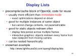 display lists22