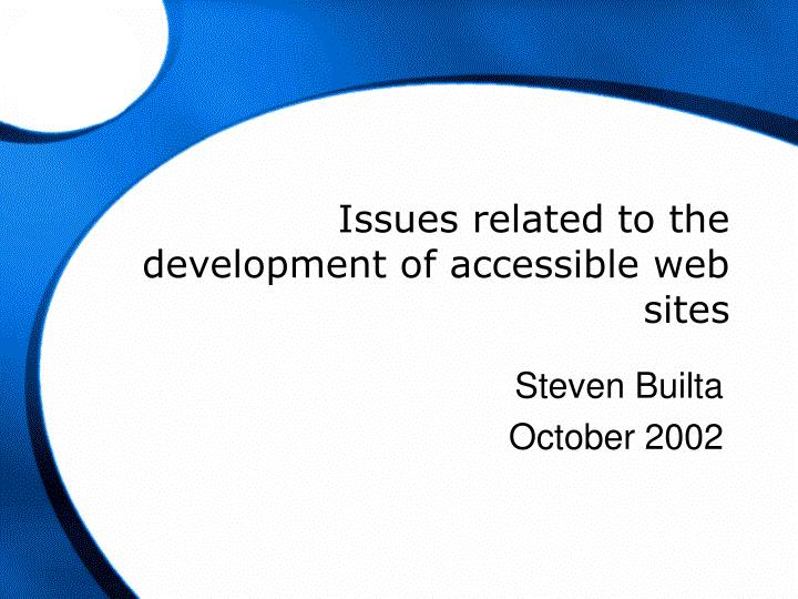 issues related to the development of accessible web sites n.