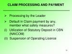 claim processing and payment