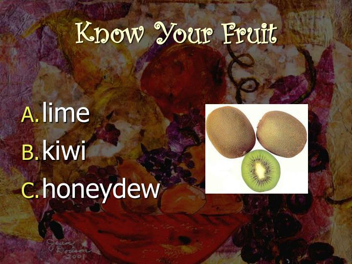 Know your fruit2