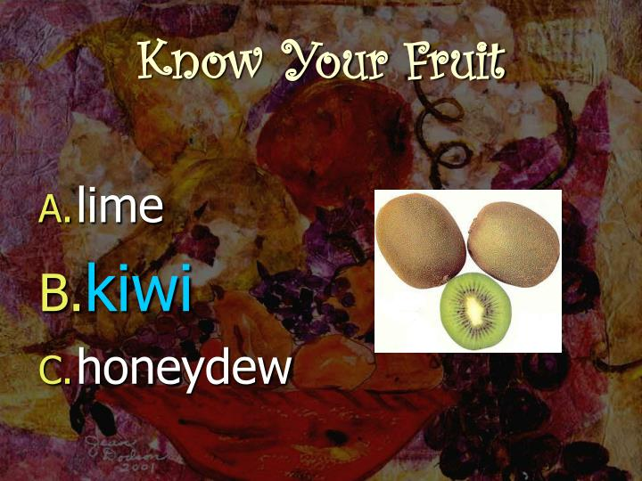 Know your fruit3
