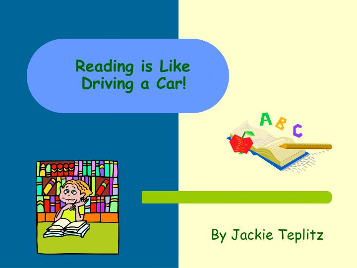 reading is like driving a car n.