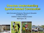 coaches understanding sports related concussion