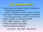 key ending points