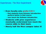 experiences the rice experiment64