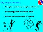 why not just java first