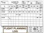 flight planning log