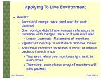 applying to live environment2