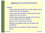 applying to live environment3