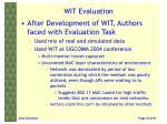 wit evaluation