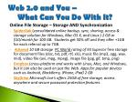 web 2 0 and you what can you do with it13