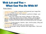 web 2 0 and you what can you do with it23