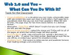 web 2 0 and you what can you do with it24