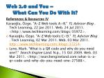 web 2 0 and you what can you do with it30
