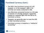 functional currency cont