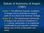 statute of autonomy of aragon 1982