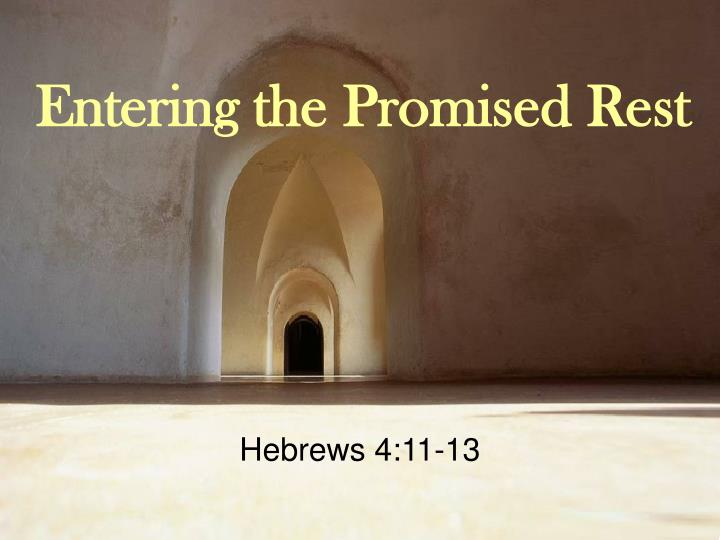entering the promised rest n.