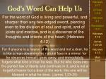 god s word can help us