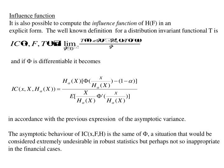 Influence function
