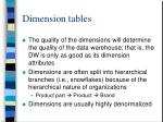 dimension tables1