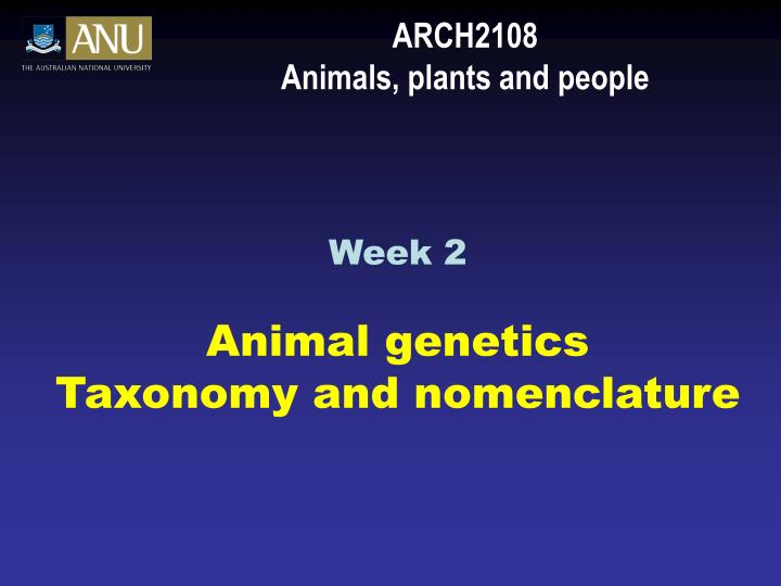Arch2108 animals plants and people