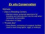 ex situ conservation37