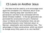 cs lewis on another jesus