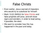 false christs
