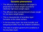 dynamic phenomena