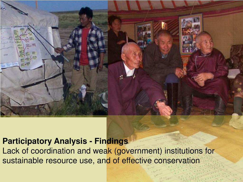 Participatory Analysis - Findings